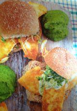Overheerlijke lunch broodjes met vis