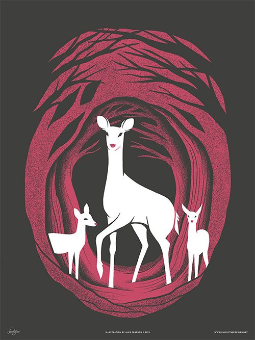 """Deer of Mirkwood"" Art Prints by Familytree"