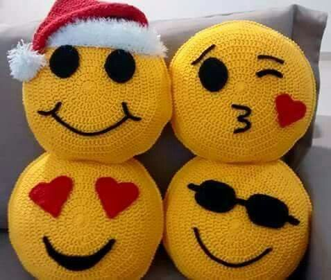 Emoji  crochet pillows