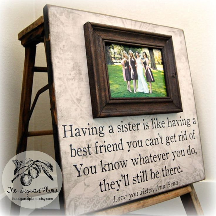 bridesmaid gift best friend sister maid of honor personalized picture frame16x16 having a sister wedding gift