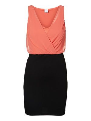 MIRA S/L SHORT DRESS IT, Spiced Coral, main