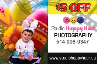 Promotion Easter photo session promotion: 35$(Value of 85$) 30$ GroupVaudreuil offer http://www.groupvaudreuil.com/strong-all-deals-strong/easter-photo-session-studio-happy-hour