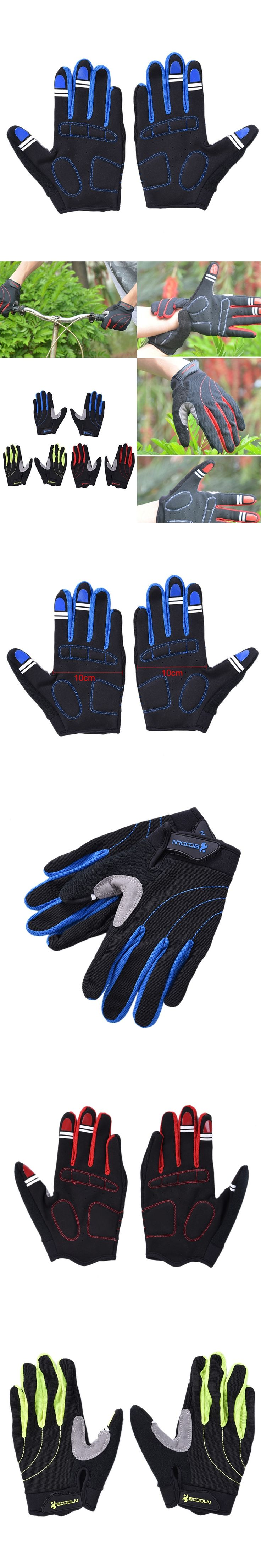 High Quality Man and Women Bike Glove Full Finger Long Gel Polyester Silicone Road Mountain Bike Gloves Cycling MTB Glove