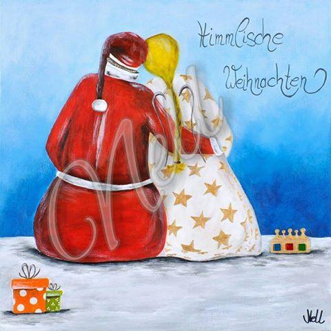 Himmlische Weihnachten - Als Weihnachtspostkarte bei Dawanda http://de.dawanda.com/shop/BildervonNELL ~ Bilder von NELL (Cornelia Elbers).. http://de.dawanda.com/shop/bildervonnell.. https://www.facebook.com/Bilder.von.NELL/?fref=photo