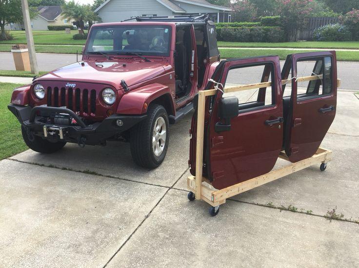Jeep Wrangler door storage