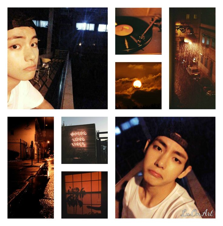 Taehyung BTS dark collage