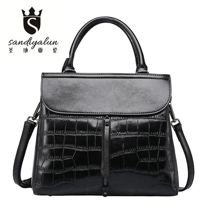 ==> [Free Shipping] Buy Best Hot Sale Women Shoulder Bag Genuine Leather Embossing Messenger Bag Fashion Female Crossbody Bags Ladies Handbag Online with LOWEST Price | 32796759212