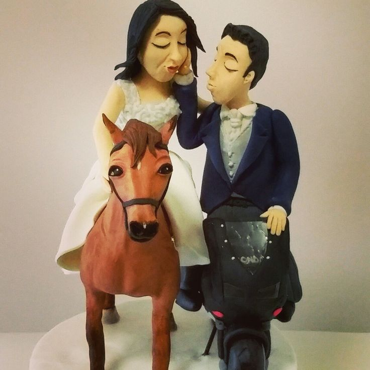 Wedding cake topper , horse And motocross by milli's cake www.milliscake.jimdo.it