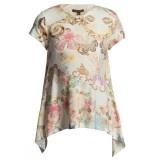 Floral Print Long Jersey Top