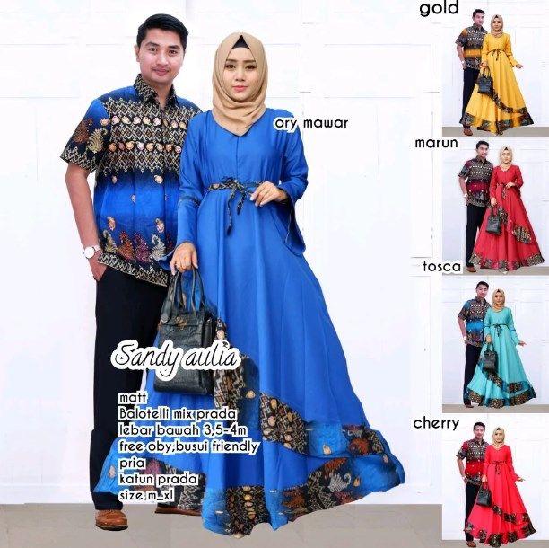 Trend Model Baju Batik Couple Sarimbit Anak Muda 2018 Sandy Aulia
