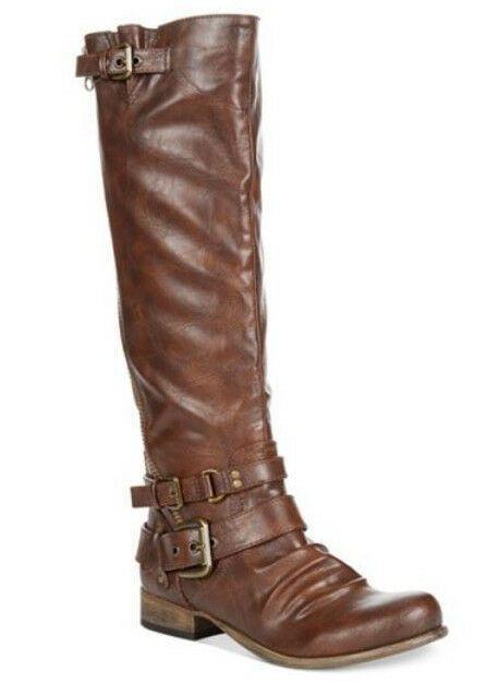 96ad7c607c3 Carlos by Carlos Santana Hanna 2 Cognac Wide Calf Tall Boots Size 7.5 M   CarlosbyCarlosSantana  RidingEquestrian
