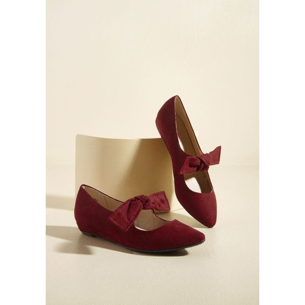 Preferred Verve Mary Jane Sliver Wedge ($50) ❤ liked on Polyvore featuring shoes, flats, ballet flat, flat, red, t-strap flats, pointed toe flats, red mary janes, mary jane ballet flats and ballet flats