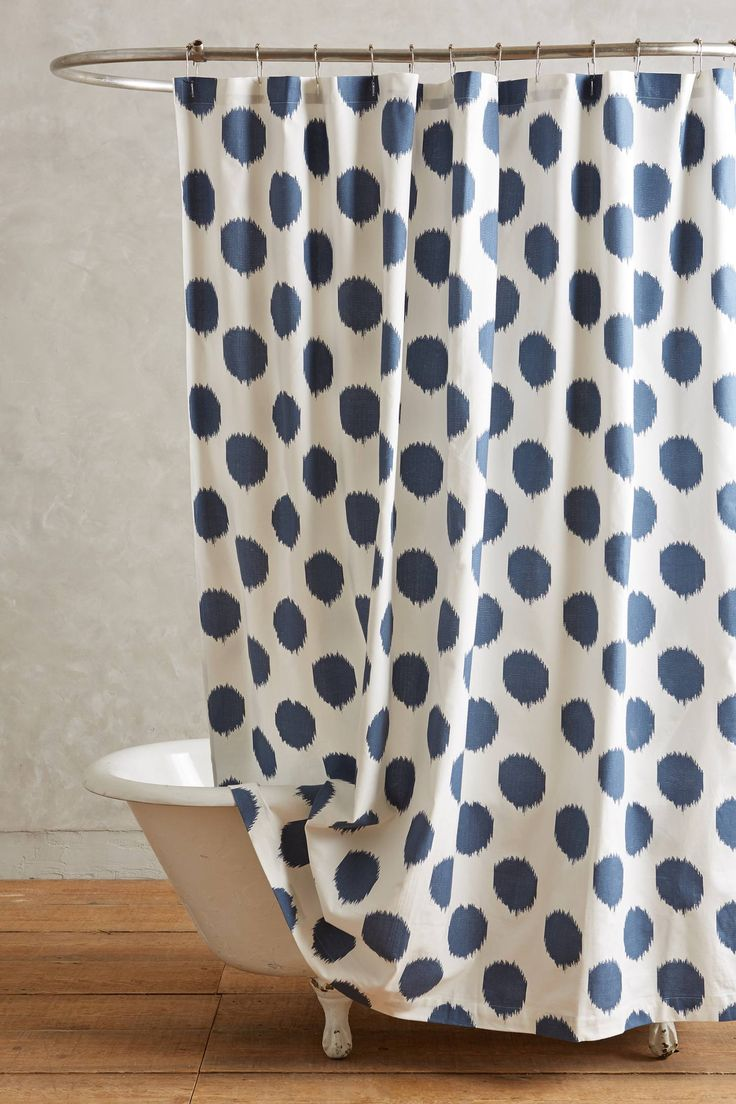 Lime green polka dot shower curtain - Ikat Dot Shower Curtain