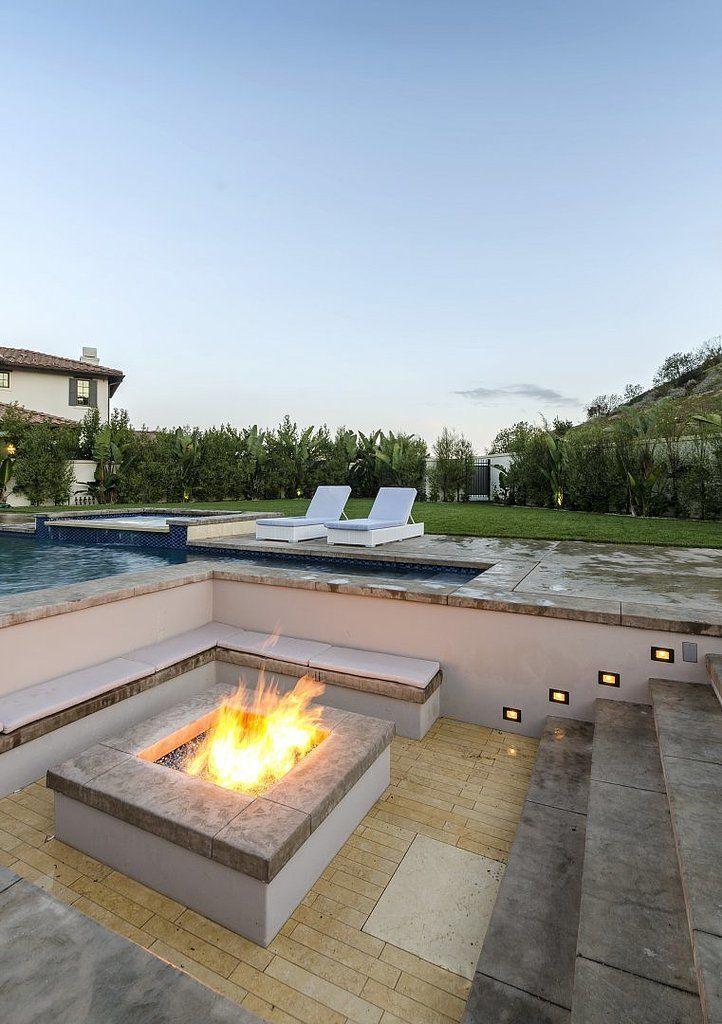 Best 25 sunken fire pits ideas on pinterest sunken for Sunken outdoor seating