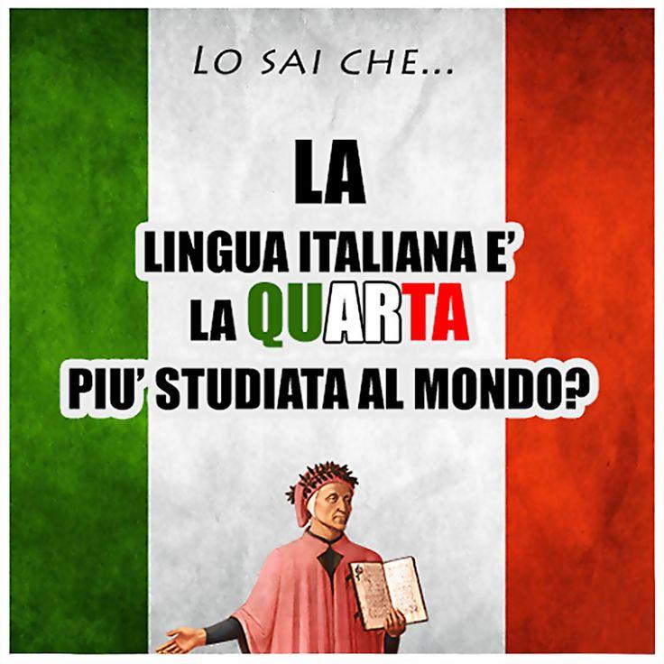 Italiano IV lingua più studiata al mondo