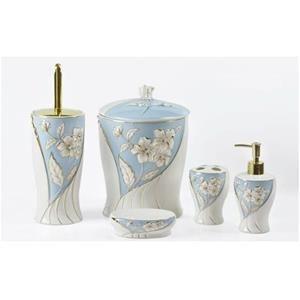 YARGICI Porselen 5 Parça Mavi Banyo Seti