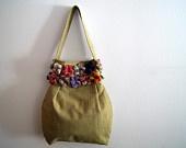Crocheted purple bag. $38.00, via Etsy.