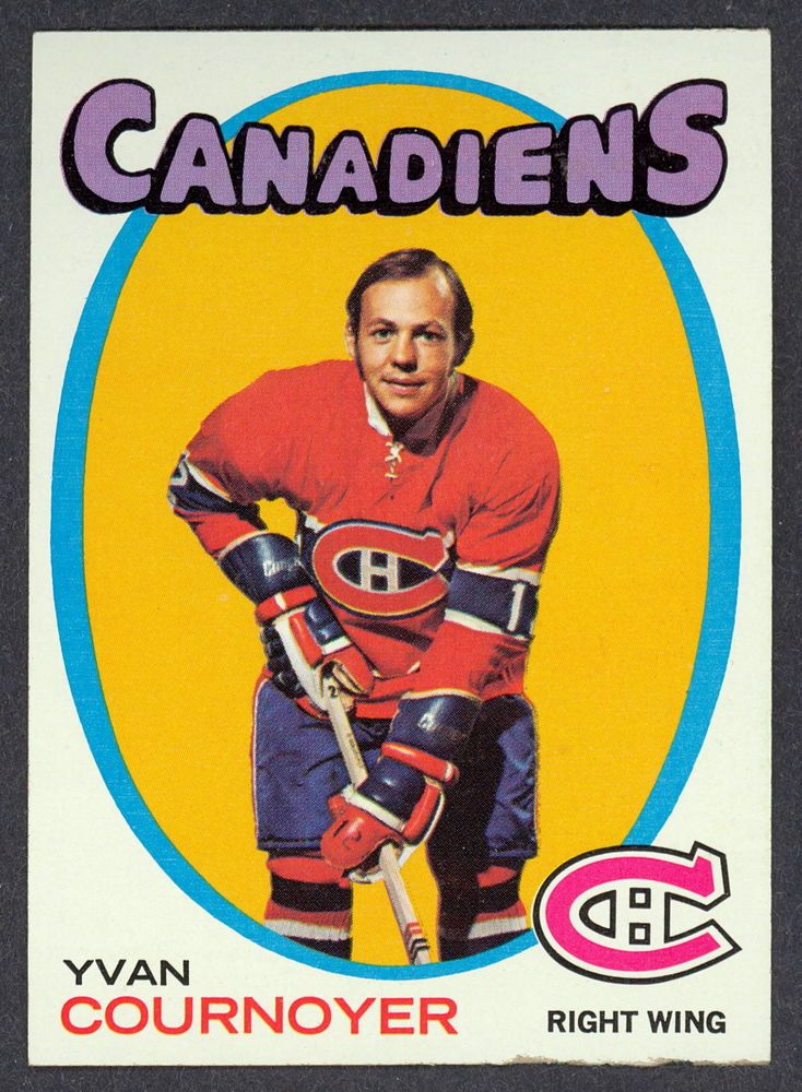 1971 72 TOPPS HOCKEY #15 YVAN COURNOYER NM MONTREAL CANADIENS