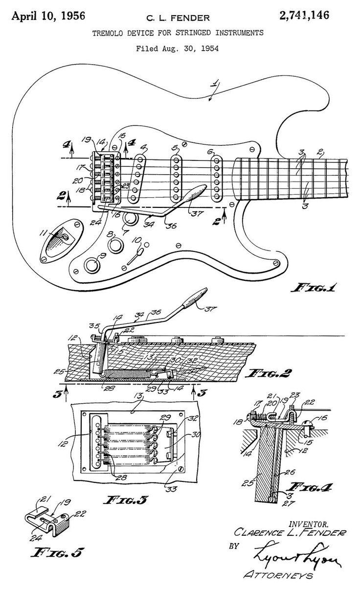 vintage fender blueprints