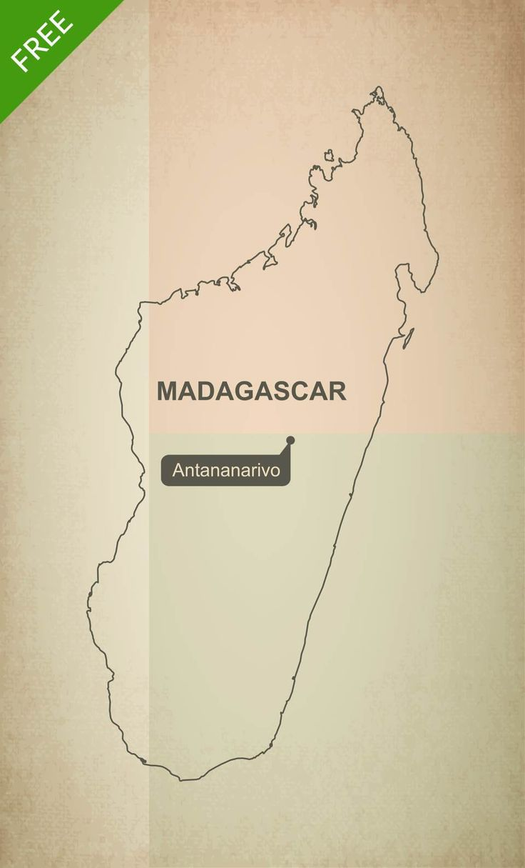 Political Map Of Senegal%0A Download free outline vector map of Madagascar
