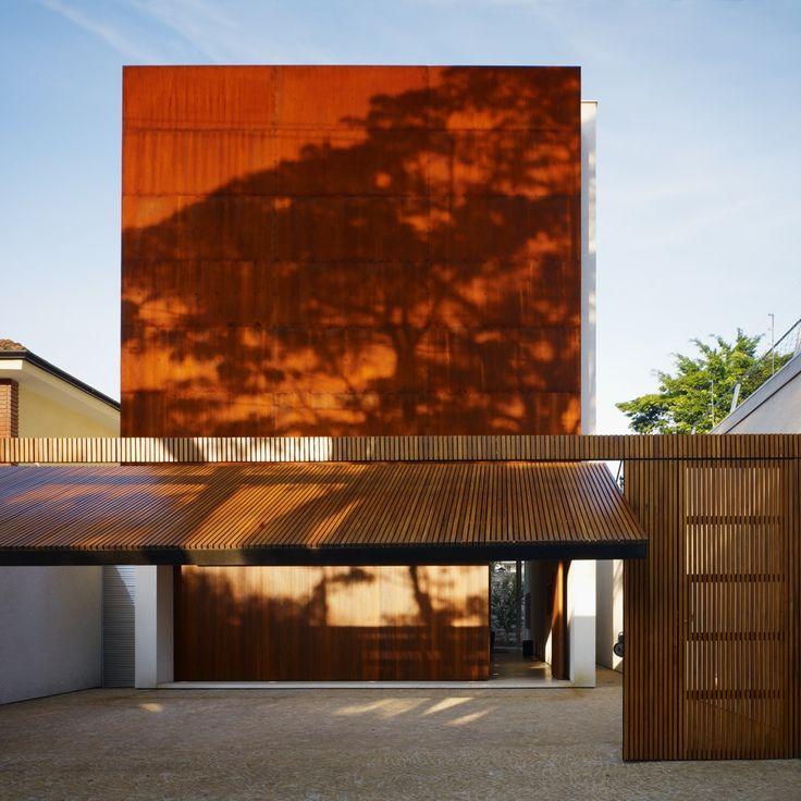 Corten House by Marcio Kogan