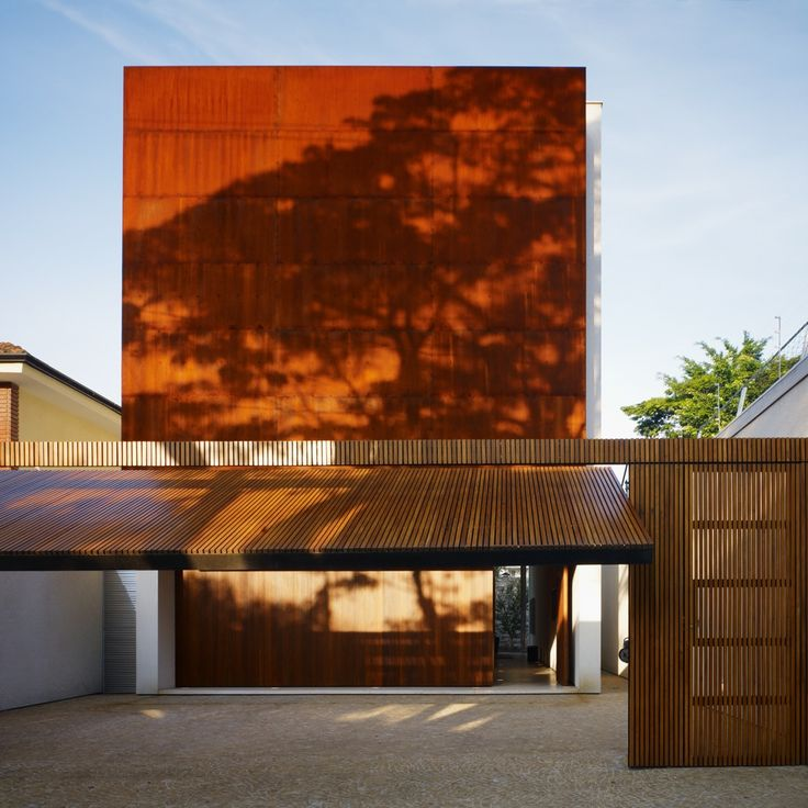 Corten House by Marcio Kogan: Sao Paulo, Houses, House Design, Studios, Garage Doors, Marcio Kogan, Architecture, Wooden Doors, Corten House