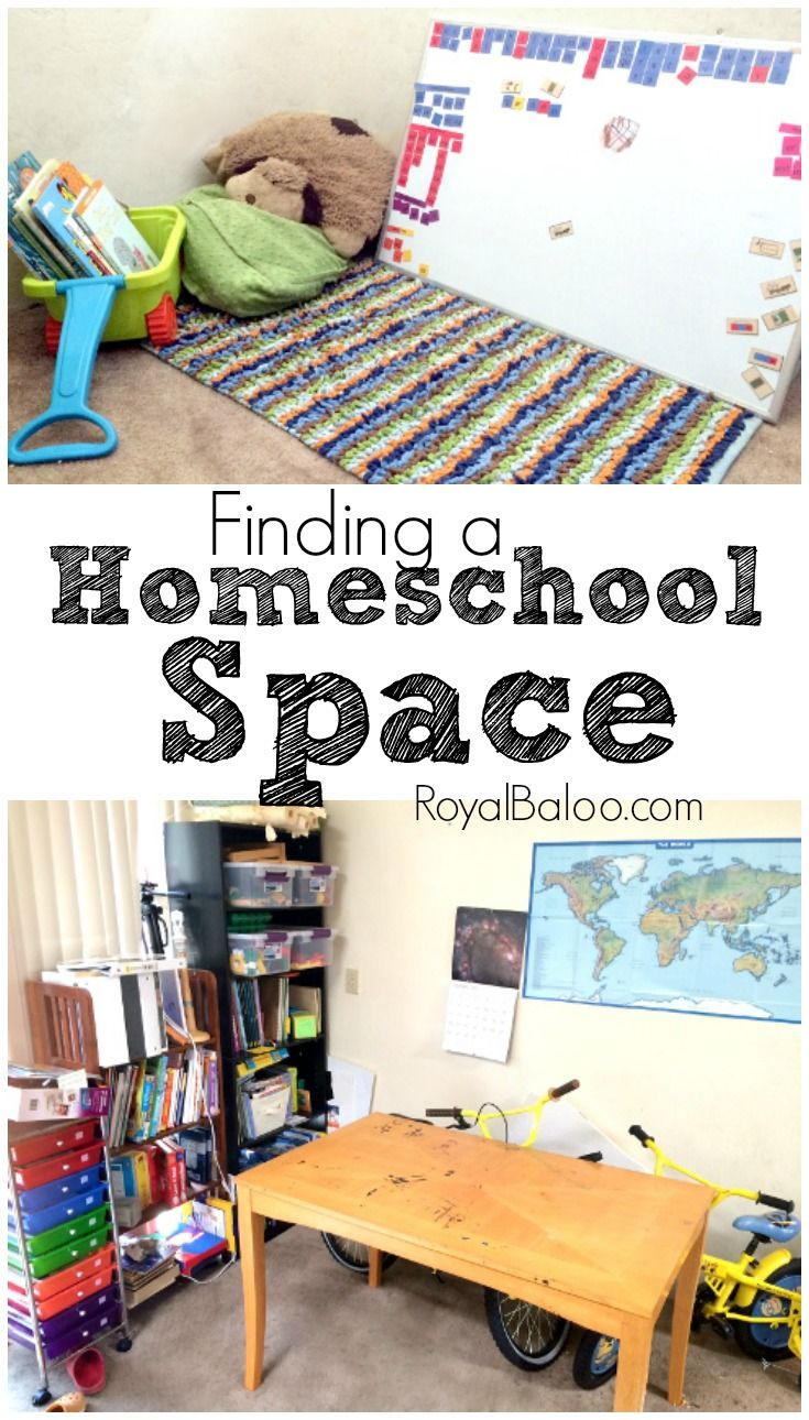 How to find a homeschool space in your home that works for you.