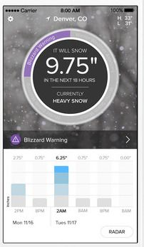 SnowCast app for iOS review: see how to use this snow prediction app for travel! #MySnowCast #ad