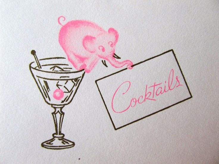 319 best pink elephants images on pinterest pink for Christmas in a glass cocktail