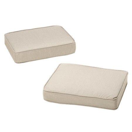 Rolston 2-Piece Outdoor Ottoman Replacement Cushion Set : Target
