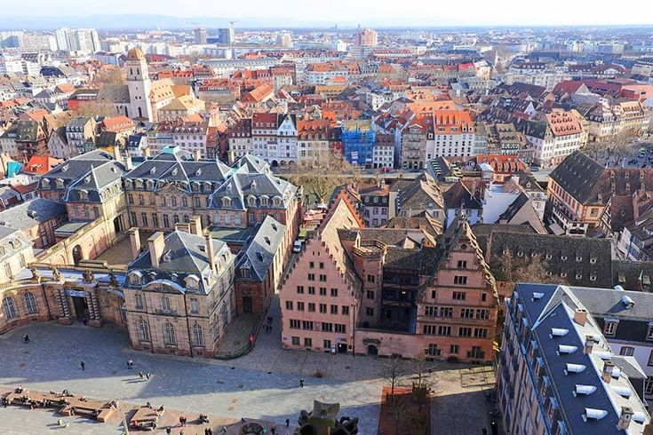 View over Strasbourg from the bell tower of Strasbourg Cathedral