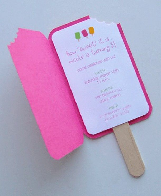 popsicle party invitation template | leuke kinder uitnodiging Door sylvinee