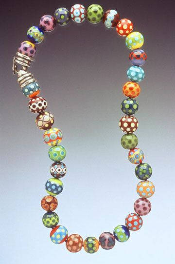 beautiful glass bead necklace  by Kristinalogan