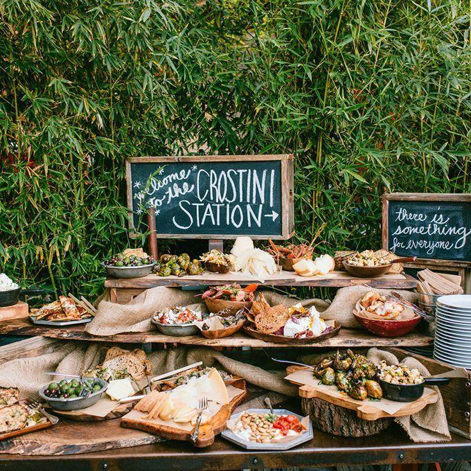 Food Bar Ideas for Your Wedding  Buffet Ideas  Hochzeit buffet Hochzeit catering Hochzeitsessen