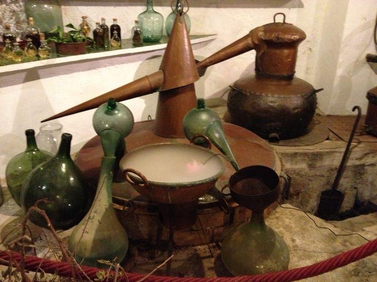 Medieval distillation apparatus in La Granja, Mallorca