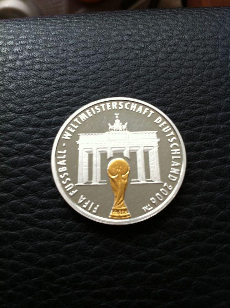 FIFA,Silber,Gold,Münze,Fussball,Weltmeisterschaft,2006,Brandenburger Tor,PP