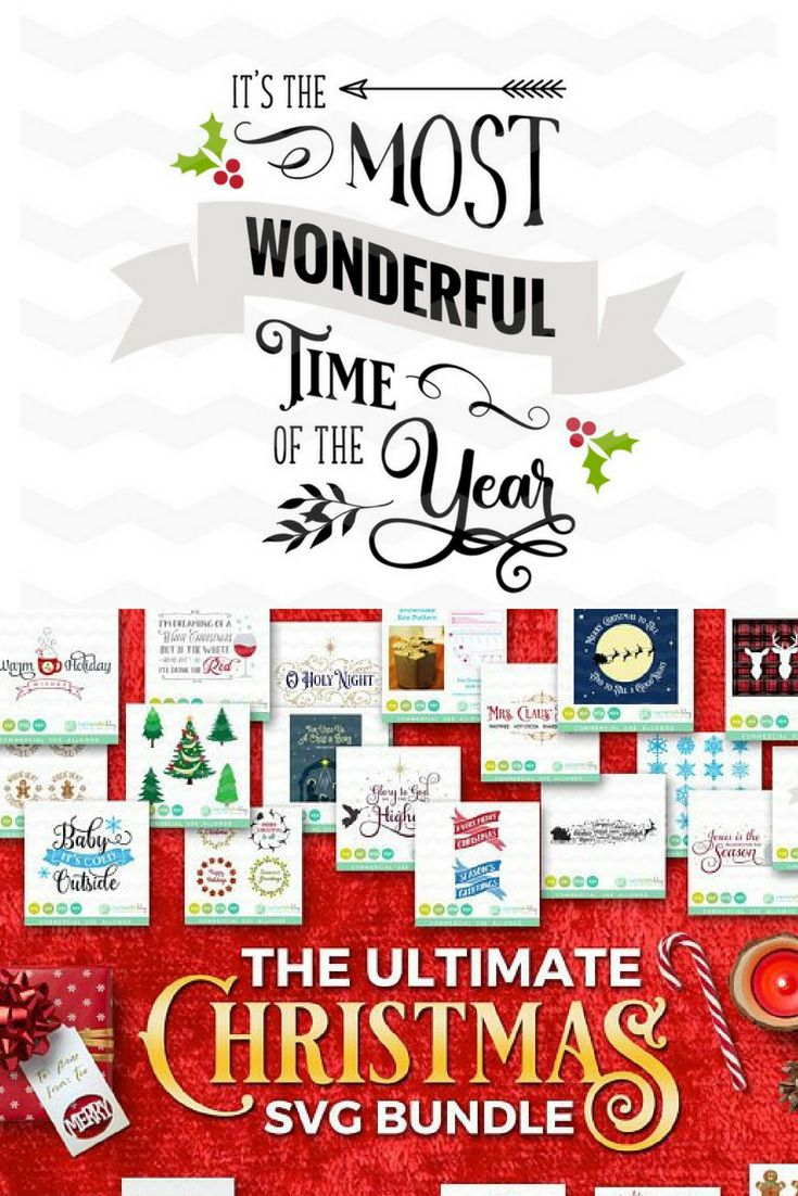 Christmas SVG Bundle | Cut files | SVG, DXF, EPS, PNG, JPG ...