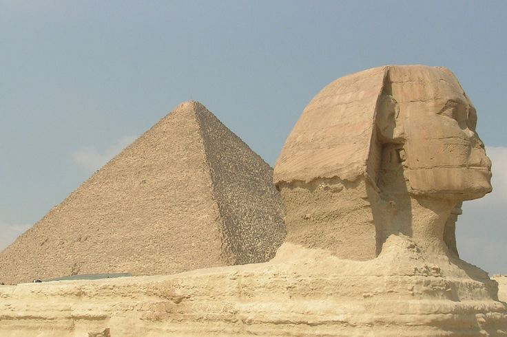 "gizeh pyramide | Bild ""Sphinx & Pyramide"" zu Pyramiden von Gizeh in Giza/Giseh"