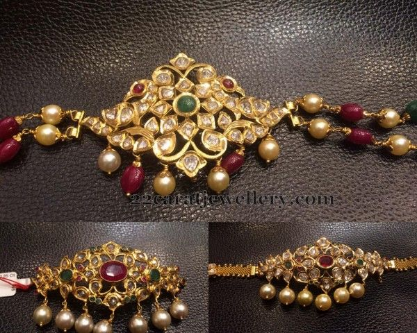 Below 30 Grams Bajuband cum Choker | Jewellery Designs