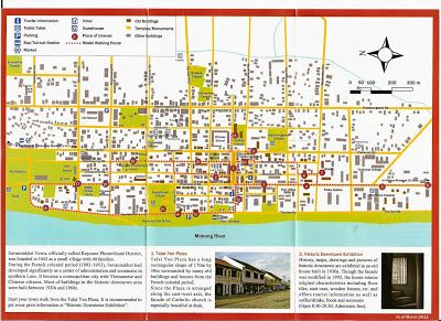 Mapa turistico de Savannakhet, Laos http://www.vietnamitasenmadrid.com/laos/mapa-turistico-savannakhet.html