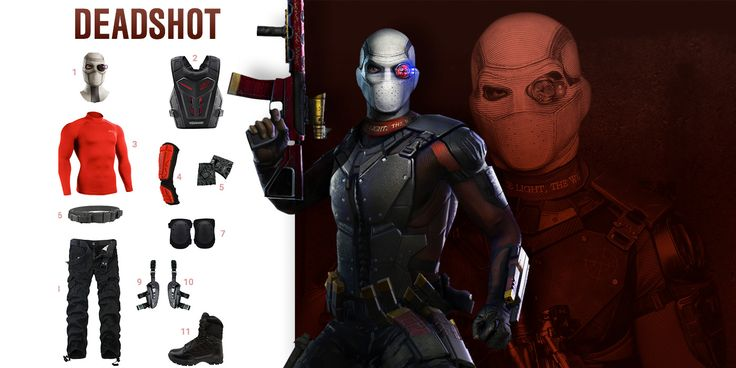 Gear up and get the look of Deadshot played by Will Smith in DC Comic's latest movie Suicide Squad.