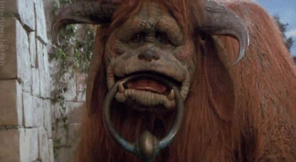Big giants have the gentlest hearts. in 2019 | GIF | Jim ... Labyrinth 1986 Ludo