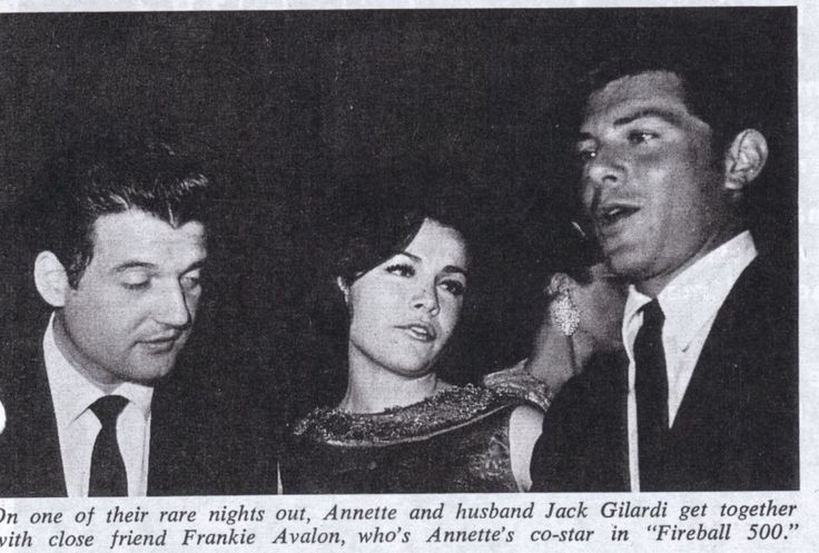 Jack Gilardi, Annette and Frankie Avalon (never saw a bad picture of Annette before!)