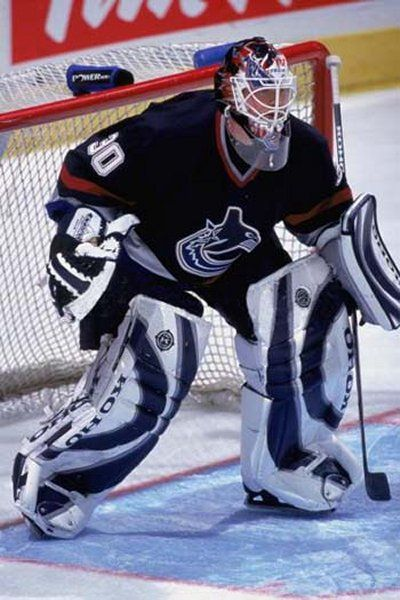 Tyler Moss with the Canucks, 2002-03.