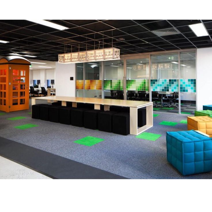 #FitoutFriday This is the ultra cool fit out of TNS Australia in Sydney. We love these colours, it brightens up any office. What do you think about bright colours in an office? Designed by @theboldcollective Fitout by @amicus_australia #amicusinteriors