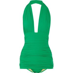 Norma Kamali  Bill halterneck swimsuit  Less is More: Style, Baby Fat, Baby Bump, Colors But, One Piece