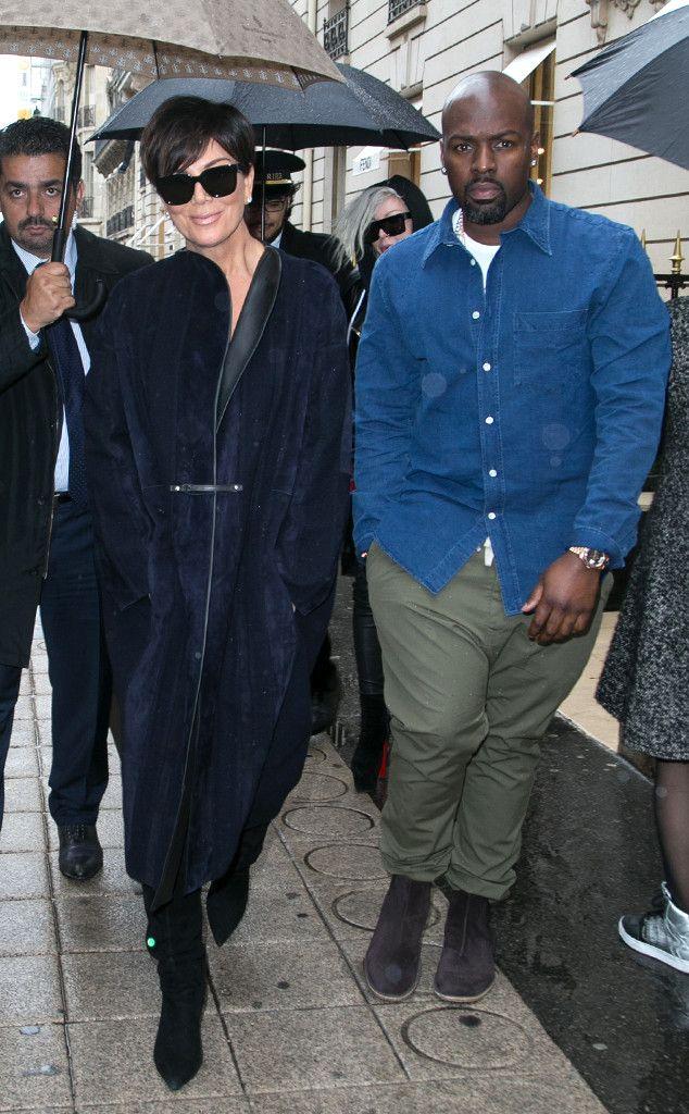 Kris Jenner & Corey Gamble from Stars at Paris Fashion Week Spring 2016   E! Online
