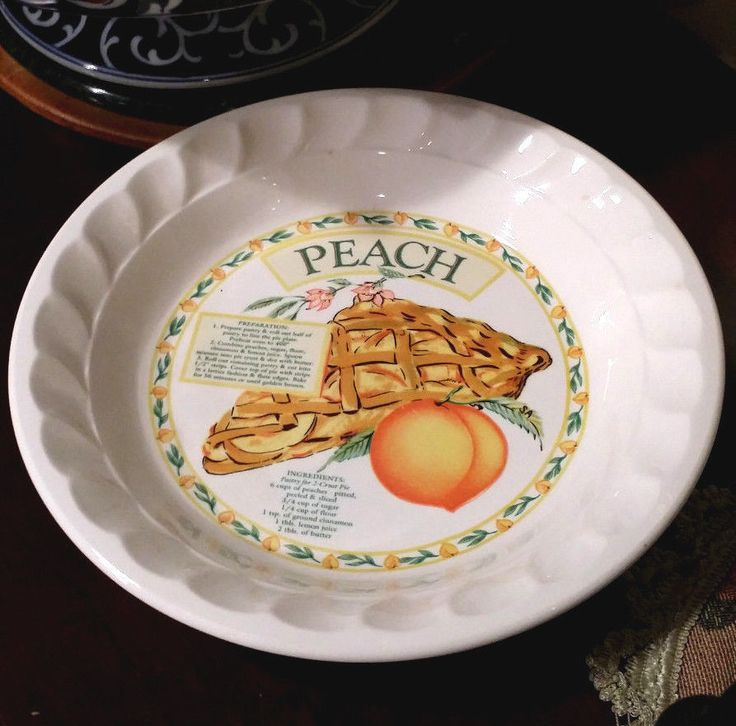 Peach Pie Plate & 38 best Food- Dishes...Pie Plates images on Pinterest | Food dishes ...