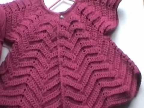 Crochet Baby Sweater with Unique Stitch / Video one - YouTube