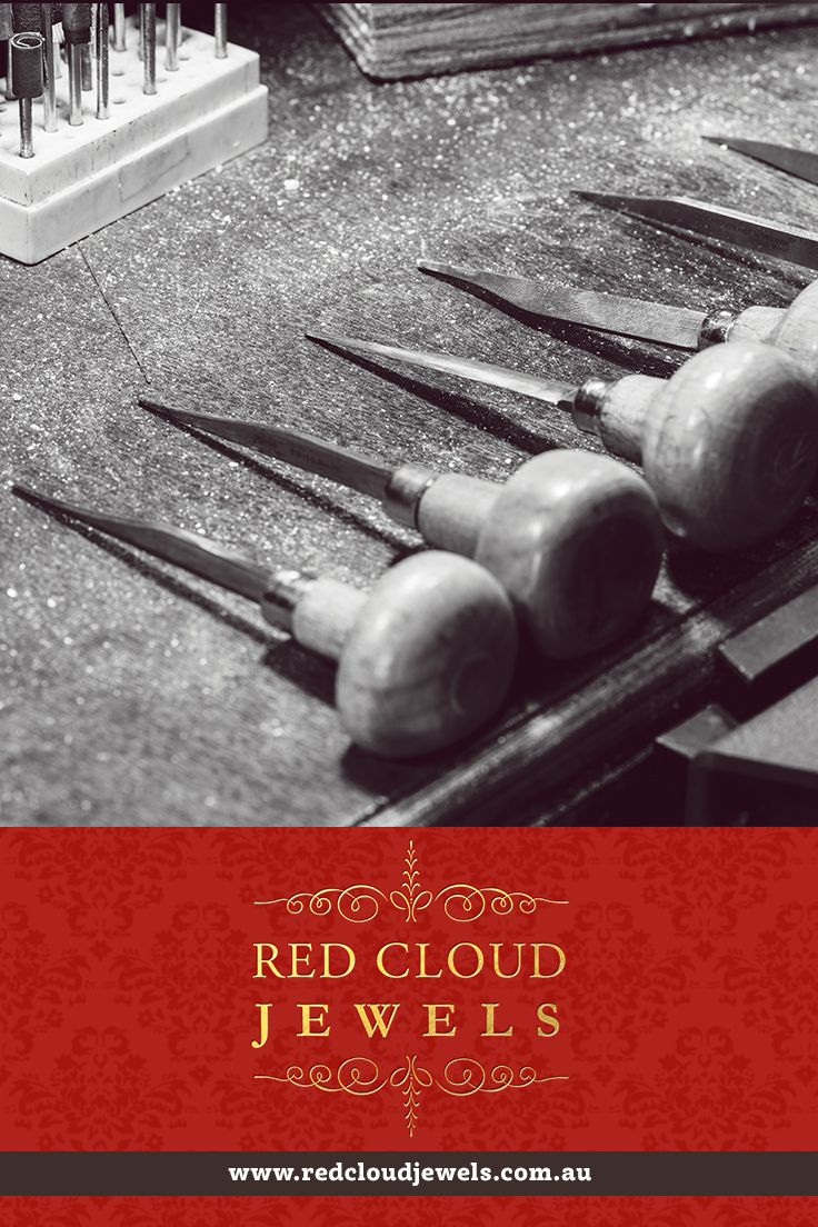Hand chisels for engraving and gem setting. Red Cloud Jewels - Outstanding Jewellery for Outstanding Individuals | www.redcloudjewels.com.au